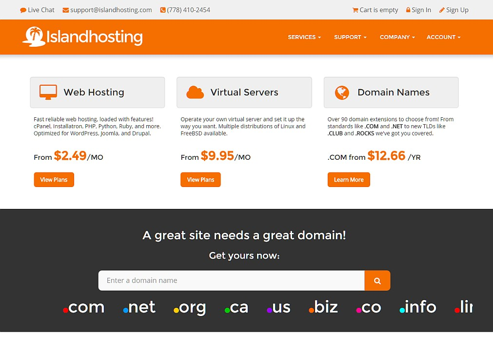 Islandhosting.com returns but with cPanel Managed Web Hosting